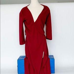 American apparel ruby long wrap dress